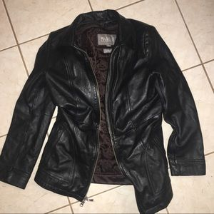 Vintage Wilson leather coat black thinsulate S